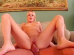 Hot blonde gets a good seeing too by huge cock