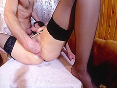 Sexy Girl Rough Fingering and Hardcore Ass Fucking - Cum Inside