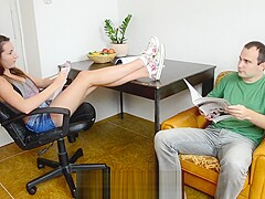 CzechSoles.com - Sexy classmate's foot offer