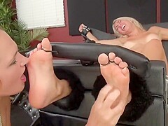 Licklish Scarlet Feet Tickling