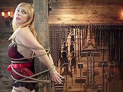 Busty blonde is whipped and flogged