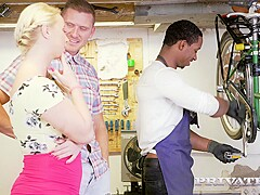 Crystal Swift and Bambi Bella Curvy Busty Babes Let Loose In the Workshop - Private