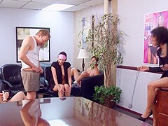 interracial rough orgy at the office.mp4