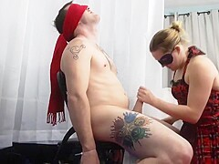 Tied Up, Tortured, Sucked, And Fucked To a Messy Cumshot