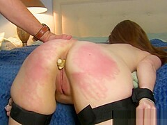 Redhead Milf Takes Hot CIM, Tied Up and Anally Punished (Figging)