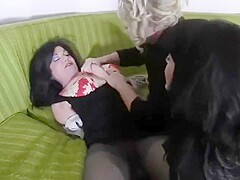 Milf gigi gets tied up by two girls