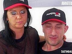 AMATEUREURO - Italian Couple Deep Anal Fuck On Their First Casting