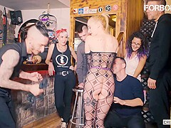 FORBONDAGE - Hungarian Teen Helena Valentine Gets a Sex and Torture Lesson in the Pub