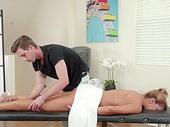 Mercedes Carrera is having casual sex with her massage therapist, instead of getting a massage