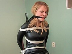 Kinky blonde lady likes to be tied up and dominated, because it excites her a lot