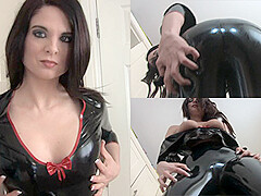 Stacey M in Black Top and Leggings - LatexHeavenVideo