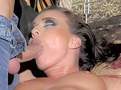 Kinky woman with a perfectly shaved pussy, Vicky Love got tied up and fucked by Totti