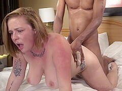 Busty Curvy Strawberry Blonde Super Duped Into Her 1st Big Black Cock!