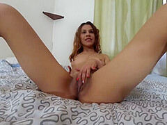 Alexa Masturbates on the Bed - SexLikeReal