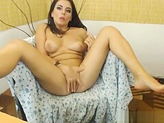 beautiful latina gets naked for you and masturbates