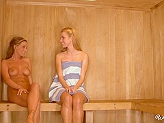 10 Jessie Rogers Melissa XoXo in Love In The Sauna [HD]