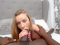 Angel Emily is getting her daily dose of fuck in the ass, from a black guy