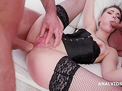 Fucking Wet with Lady Zee, Balls Deep Anal, DAP, Gapes, Face Slapping, Pee Drink and Swallow GIO1444