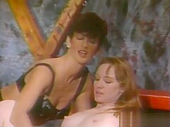 Super-Tanned Hairy Dark Bush Sharon Mitchell - Leather Bound Dykes From Hell Part 4 (Clip) (1994)