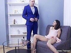 Teeny Lovers - Emily Wilson - Teen facefucked after mouthful