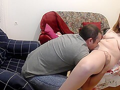 Girlfriend wants to Suck my Cock while we Watch TV and get Fucked
