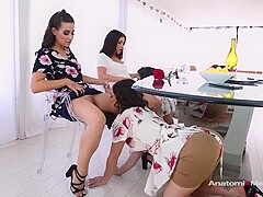 Cassidy Klein and Jane Wilde like to have group lesbian sessions, every once in a while