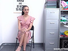 Gia Vendetti is a small titted shoplifter who always fucks her way out of a trouble