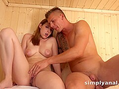 Antonia Sainz is moaning from pleasure while her guy is playing with her wet pussy