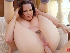 Dana Dearmond is fingering her dripping wet pussy while getting fucked hard in the ass