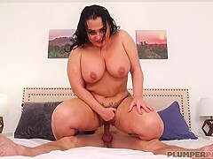 Big ass brunette, Betty likes to ride a rock hard cock and get fucked from the back