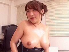 bigboob onepice in office with spaoil