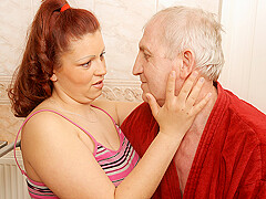 Horny Old Geezer Doing A Big Titted Teen - MatureNL