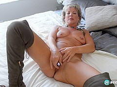 Constance Joy Boots And A Buzzing - PornZog Free Porn Clips